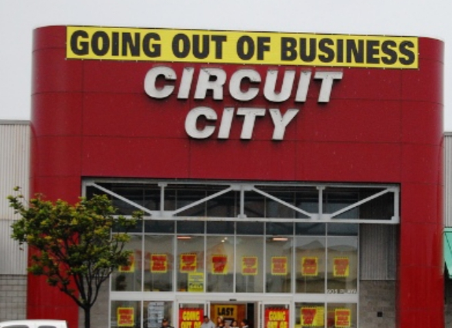 I Want To Remind You Of A Few Names Woolworth Circuit City Tower Records How About Kodak Or Blockbuster